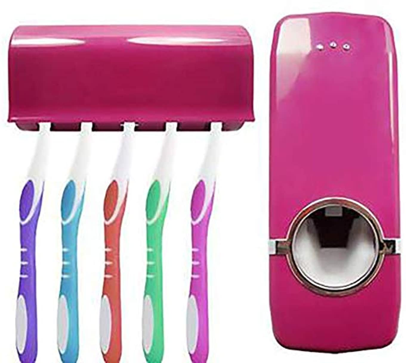 君主火炎豊かな自動歯磨き粉ディスペンサー/自動歯磨き粉のスクイーザ/便利/子供の浴室に適したシャワー、赤 Alysays (Color : Red)