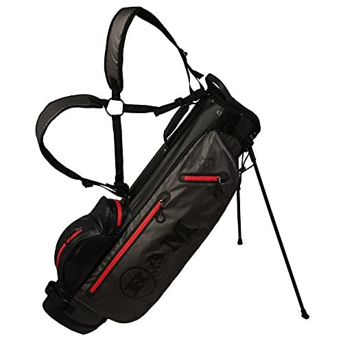 Ram Golf Waterproof Stand Carry Bag, 7.5', Black/Grey/