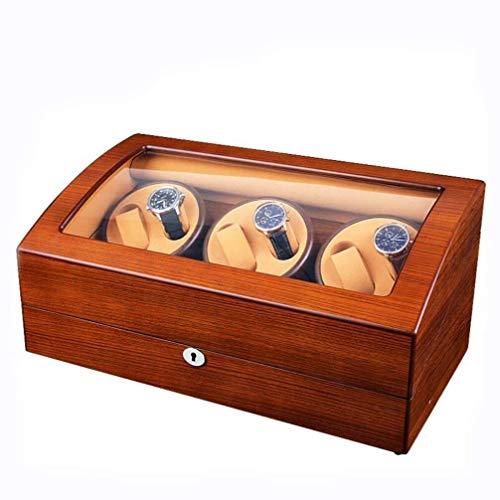 GNLIAN HUAHUA Watch Bander Box Watch Winder con Suave y Flexible Reloj Almohadas, Desarrollado con Quiet Mabuchi Motor Caja de exhibición de Joyas