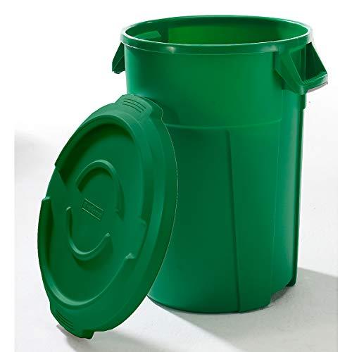 Conteneur multi-fonctions en plastique - capacité 120 l - vert - collecteur de déchets collecteur de tri collecteurs de tri conteneur multi-usages poubelle poubelle de tri poubelle à ordures poubelles de tri Collecteur de déchets Collecteur de déchets pour