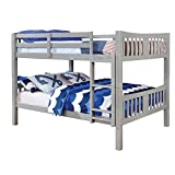 Furniture of America Edith Wood Full Over Full Bunk Bed in Gray