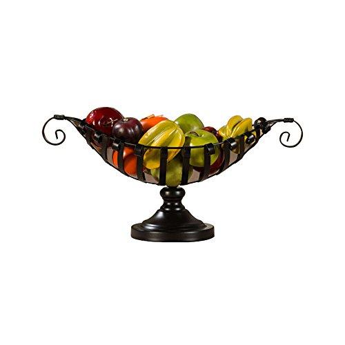 Jinyidian 'shop-wrought fer Corbeille à fruits, européens, bol de fruits, avec découpe * W26 cm * 18 cm noir