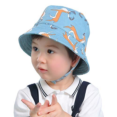 Kinder Schirmmütze Sonnenmütze Karikatur Krempe Baby Sonnenhüte Bindebändern...