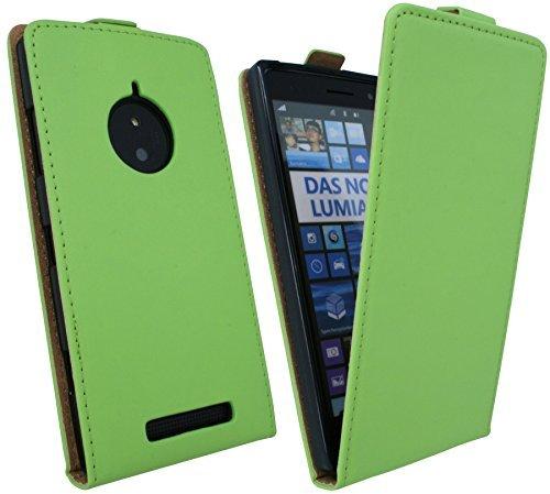 ENERGMiX Klapptasche Schutztasche kompatibel mit Nokia Lumia 830 in Grün Tasche Hülle
