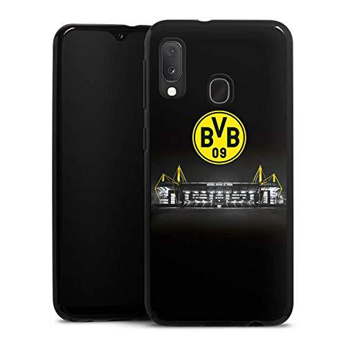 DeinDesign Silikon Hülle kompatibel mit Samsung Galaxy A20e Case schwarz Handyhülle BVB Stadion Borussia Dortmund