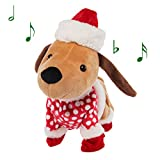 Simply Genius Animated Christmas Plush Dog, Robot Dog, Toy Dogs That Walk and Bark, Talking Toys, Animated Christmas Toys, Animated Christmas Decorations