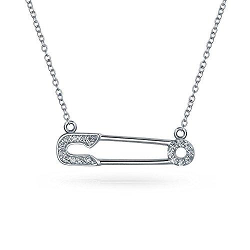 Símbolo de apoyo para el refugee Pave CZ Acento sideways invía pin colgante collar para las mujeres de plata