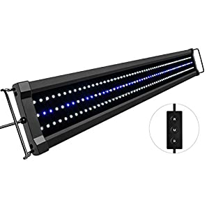 NICREW ClassicLED Gen 2 Aquarium Light, Dimmable LED Fish Tank Light with 2-Channel Control, White and Blue LEDs, High Output, Size 36 to 48 Inch, 32 Watts