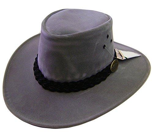 Modestone Unisex Jacaru Polysuede Soak In Water Keep Cool Chapeaux Cowboy Grey