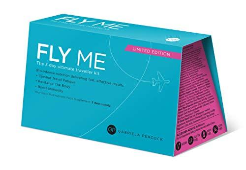 Gabriela Peacock Nutrition Fly Me | 3-Tagesplan | Kampf gegen Jetlag und Reisemüdigkeit | In Flight Essentials | Vermeiden von Flug-Dehydrierung | Unterstützung und Stärkung des Immunsystems