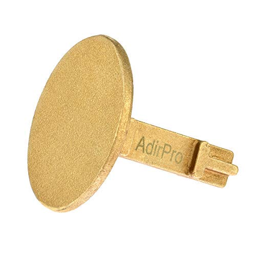AdirPro Survey Markers – Durable Solid Brass & Low Profile Permanent Boundary Marking Caps/Stakes – for Surveying & Measuring Property & Land Area (2 Inch, Flat) - 6 Packs