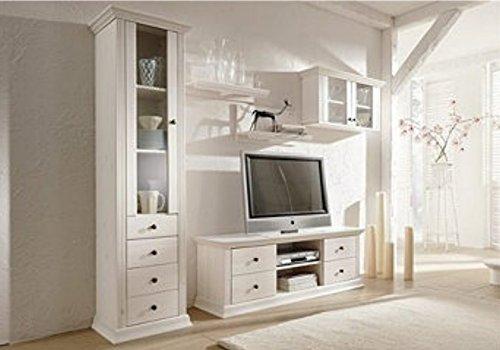 Salon en pin laqué blanc Armoire murale
