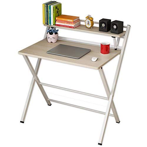 JTRHD Escritorio Escritorio de Oficina Resistente Mesa Plegable del hogar No Hay Necesidad de ensamblar el Escritorio Plegable para la Oficina en el hogar del Espacio pequeño para Adultos y niños