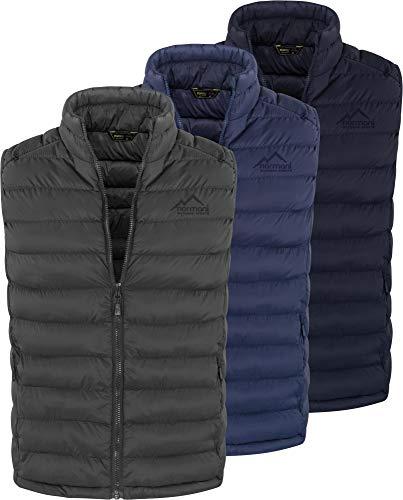 normani Wattierte Outdoor Steppweste für Herren - Winddicht & wasserabweisend - mit Stehkragen und geräumigen Taschen Farbe Schwarz Größe XXL