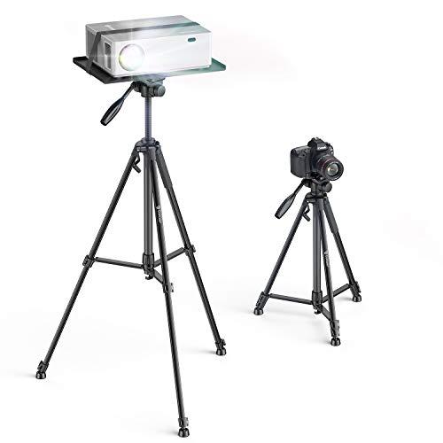 Bomaker Treppiede Proiettore, Treppiede Fotocamera Portatile in Alluminio Leggero con Vassoio e Borsa, Supporta per Proiettore, Laptop, Fotocamera, Attrezzature da DJ