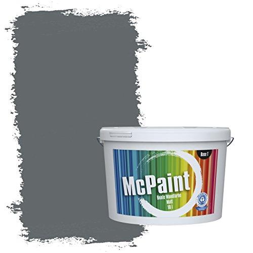 McPaint Bunte Wandfarbe Anthrazit - 2,5 Liter - Weitere Graue Farbtöne Erhältlich - Weitere Größen Verfügbar