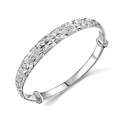 Botrong Unique Design Fashion Jewelry Womens Charm Bangle Bracelet Gift (Silver)
