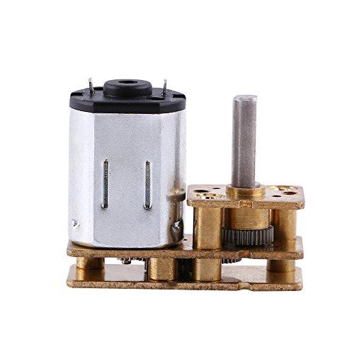 100RPM 6V DC Getriebemotor, hohe Drehmoment Mini elektrische Geschwindigkeitsreduzierung Getriebe Box für Roboter DIY