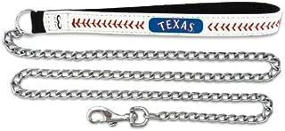 GameWear MLB Texas Rangers Baseball Leather Chain Leash, 2.5 mm