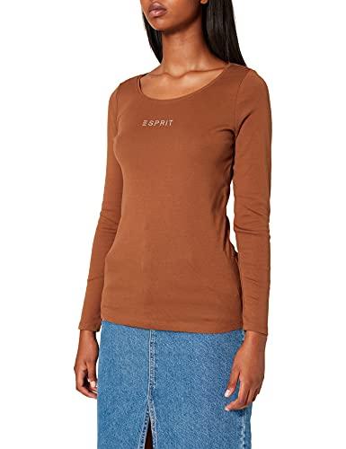 ESPRIT Damen 990EE1K312 T-Shirt, 225/TOFFEE, XXL