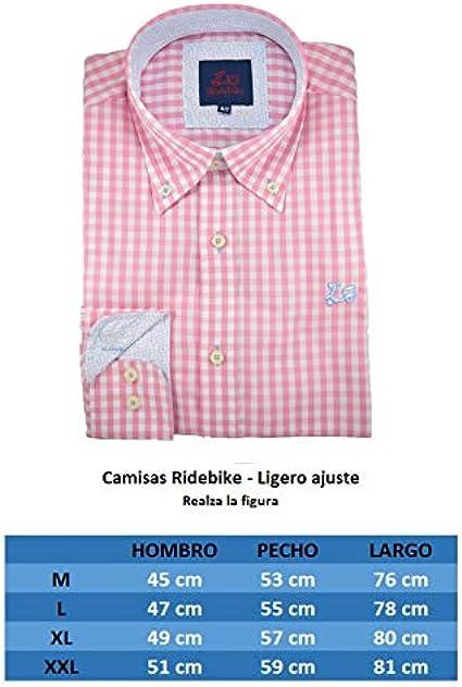 Ridebike Camisa de Cuadros Rosas (107)