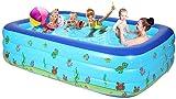 Hexiao Piscine Gonflable for Enfants Piscine, rectangulaire Grand Parc Aquatique, Adulte Enfants Piscine, Convient for Le Jardin et l'extérieur xiao1230 (Size : 210×150×60)