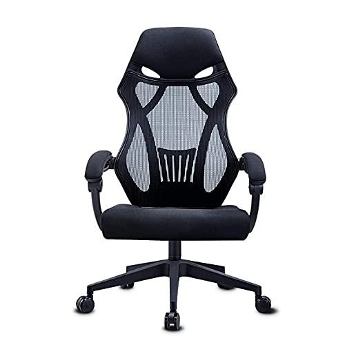 Ygqbgy Ergonomischer Bürostuhl Mesh Chair Hochleistungs-Bürostuhl, verstellbare Kopfstütze und Armlehne, Home Office-Stuhl mit Neigungsfunktion und Positionssperre (Farbe: A)