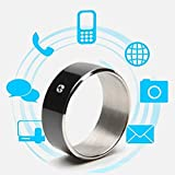 WEII Smart Ring Kreative NFC Smart Ring Android Universal Smart Tragbares Gerät,Schwarz 11,Einheitsgröße