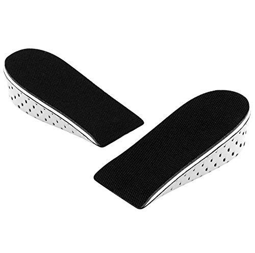 Richoose One Pair Respirabile Memory Foam Altezza Aumento Sottopiede Invisible Incrementato Heel Inserti sollevamento scarponi Pantaloni Scarpe Sollevatore per Uomini Donna (4CM)
