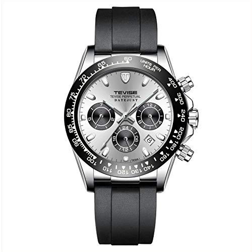 ZHANGZZ Hermoso Reloj TEVISE, Reloj de la Moda de Seis Agujas del Reloj de TEVISE...