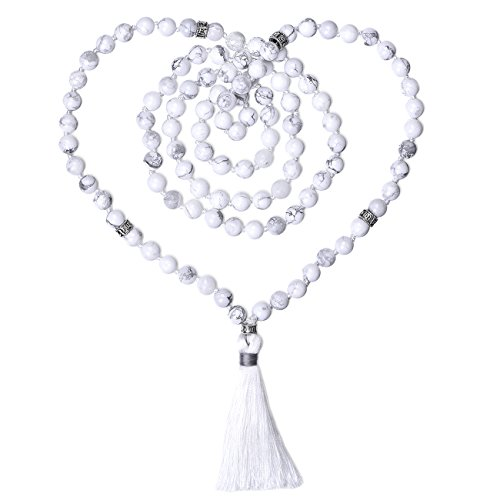 Choker 108 Mala Beads Hand Knotted Tassels Japa Malas Necklace Bracelet for Prayer Meditation Yoga