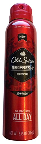 Old Spice Re-Fresh Body Spray, Swagger 3.75 oz (Pack of 5)