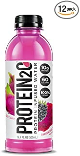 Protein2o Low Calorie Protein Infused Water, 10g Whey Protein Isolate, Dragonfruit Blackberry (16.9 oz, Pack of 12)