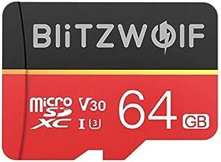 BlitzWolf Class 10 V30 1080p FHD 32GB 64GB 128GB 256GB Micro SD TF Memory Card BW-TF1 (64GB)