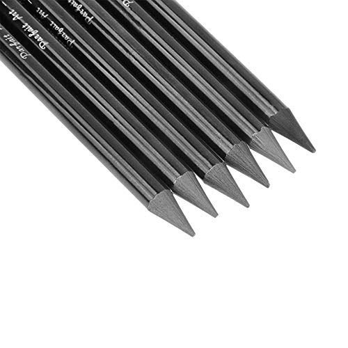 6 PCS Professional Woodless Charcoal Pencil Artist Sketching Drawing Pencil Graphite Sketch Pencils Charcoal Sticks Art Pencil Set for Drawing Shading Sketching 6 Grades of Graphite HB 2B 4B 6B 8B EE