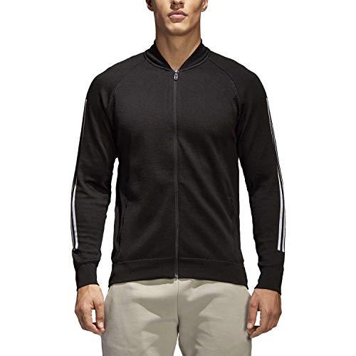 adidas męska kurtka bomberka, męska, kurtka, CG2130, czarna (czarna), XXL