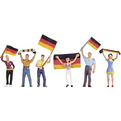 NOCH 15966 - Deutsche Fans, Spur H0, bunt