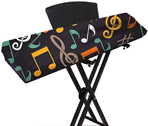 Qees, Tastatur-Abdeckung für digitales/elektrisches Klavier/Keyboard mit 61/88 Tasten, dehnbare Tastatur-Staubschutzhülle, JJZ353