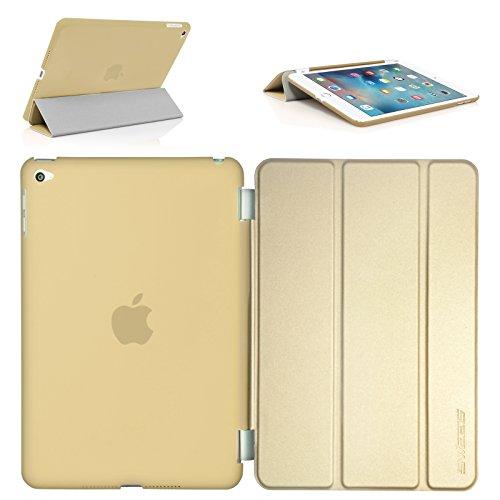 Swees iPad mini 4 Hülle, Smart Cover + TPU Back Hülle Cover Hülle Schutzhülle Etui Tasche für Apple iPad mini 4, Unterstützt Sleep/Wake Funktion - Gold