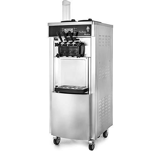 VEVOR Machine à Crème Glacée Verticale Professionnel Sorbetière à Glace Ice Cream Machine Appliqué dans les Restaurants, les Cafés, les Snack-shops, les Fast food, les Supermarchés