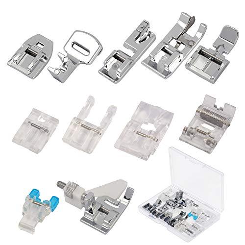 11pcs KATOOM Prensatelas Accesorios para Máquina de coser Accesorios Domésticos para Máquina de Coser Babylock, Viking (Serie Husky), Euro-Pro, Janome, Kenmore,BROTHER, Mariposa, etc.