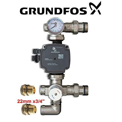 GRUNDFOS UPM3 Pumpe 25-70 130 mit Mischventil für Unterbodenheizung Wärmersystem PSW Trade Supplies LTD