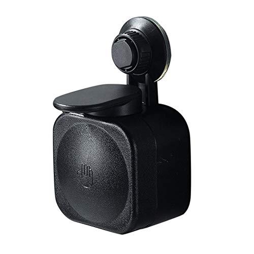 BSTOB Dispensador de jabón montado en la Pared Colgante, dispensador de jabón ABS Ventosa Ahorro de Espacio sin perforación Hogar Baño Baño Cocina Prensa Colgar Dispensador jabón montado Negro