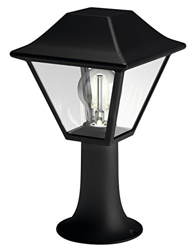 Philips myGarden Alpenglow - Sobremuro/Pie, iluminación exterior, bombilla no incluida, casquillo E27, aluminio, color negro