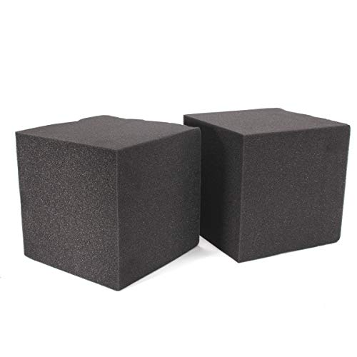 RanDal 2Pcs 20X Soundproof Foam Absorption Cube Studio Acoustic Music Room Treat 20X20X20Cm