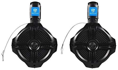 "Rockville RWB65B 6.5"" Black 2-Way 500-Watt Marine Wakeboard Tower Speakers"