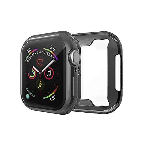 PaceBid Custodia Compatibile con Apple Watch Series 5 40mm, Custodia Protettiva in TPU Trasparente a Protezione Totale Custodia in Gomma Utrasottile ad Alta Definizione per Apple Watch Series 5-Nero