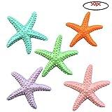 Wohlstand 50 Piezas Estrella de mar,Lápiz Dedo Estrella de Mar,Resina Azul Estrella de mar 6...
