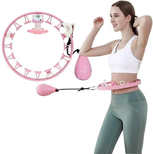 HSWYJJPFB Gadget Tecnologici Aros Smart Hula Hoops Fitness Desmontable con Equipo Deportivo Inteligente para Adelgazar para Adultos, Rosa