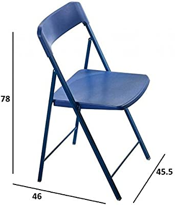 Due-home Silla Plegable sillas taburetes, Color Blanco ...